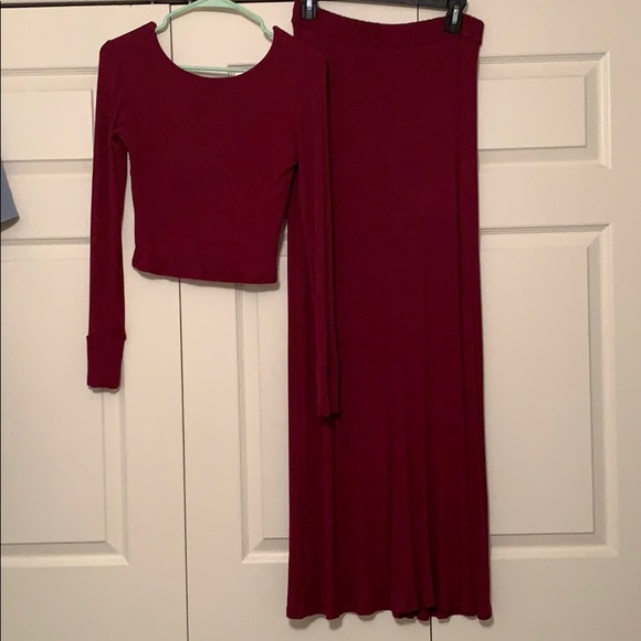 Lucy Love Dresses & Skirts - Size small 2 piece crop top and slit skirt set